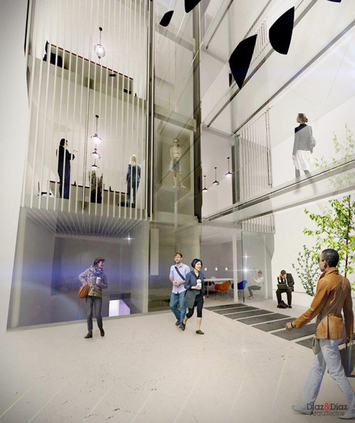 Proyecto el Patio Eficiente. Alcalá 33. Cedida por Diaz&Diaz Arquitectos.