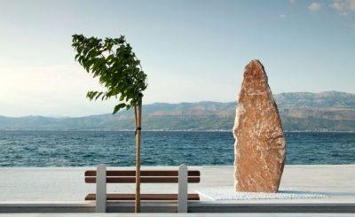"""""""Minimalismo en la costa"""" (Coast minimalism) por Senad Tahmaz. """"Unusual, vista minimalista de un detalle arquitectónico""""."""