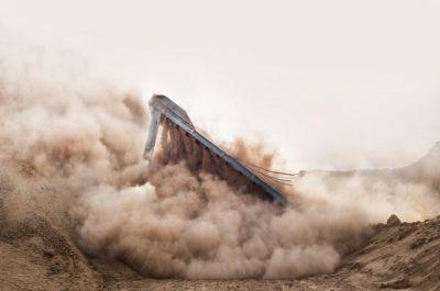 """""""Cambiando el paisaje"""" (Changing Landscape) por Barbara Rossi en Sokhna, Egipto. """"Saqué esta foto de una demolición. Muestra transformación, acción y belleza."""